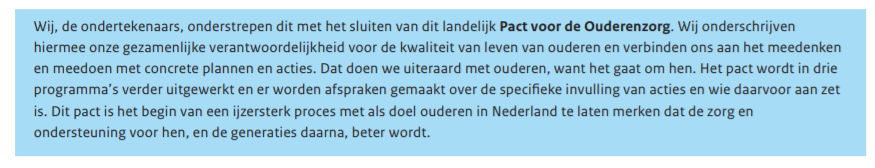 A quote pact ouderenzorg